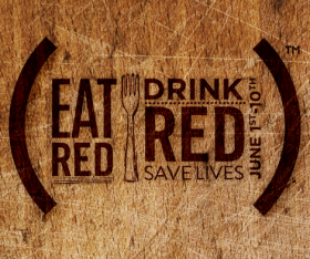 EAT (RED). DRINK (RED). SAVE LIVES. Join (RED) at the table this June